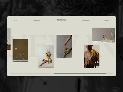 A Florist's Favourite Website web website art minimal ui graphic design graphicdesign design branding app