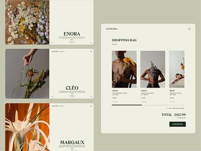 A Florist's Favourite Website art ux web ui website graphic design graphicdesign design branding app