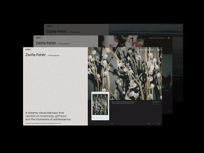 A Gallery Experience ux interaction art website graphic design web branding ui design