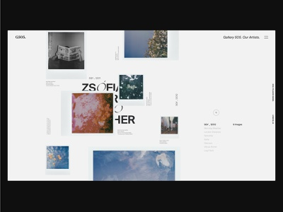 An Online Gallery Experience typography flat interaction website branding ux ui graphicdesign web design
