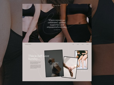A Re-Imagining of The Female Collective Blog interaction ux website ui graphicdesign branding web design