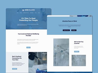 SANO Wellbeing Website - Home ux web design website