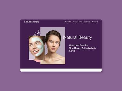 Natural Beauty Glasgow Website hairdresser hair salon beauty salon ux web design