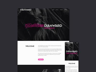 Dian Ward Hair & Beauty - Website hair salon hairdresser web design ux