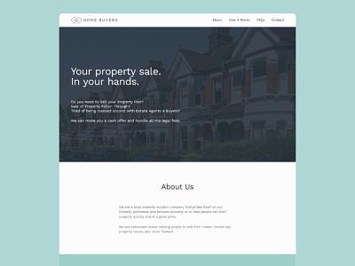 KJ Home Buyers - Website property web design ux