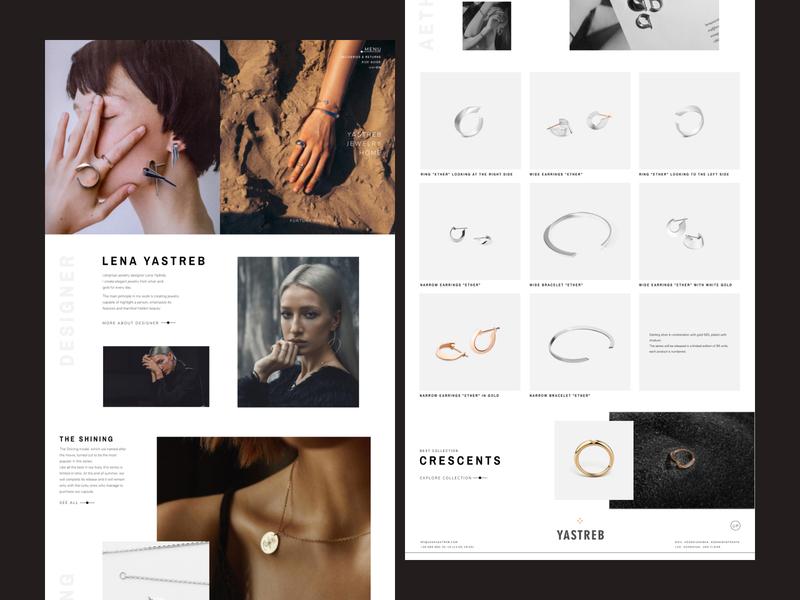 Yastreb Jewelry | Website Redesign Concept