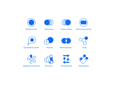 Grammar icons glyph abstraction abstract design icon design icon set icons abstract language grammar busuu icon design