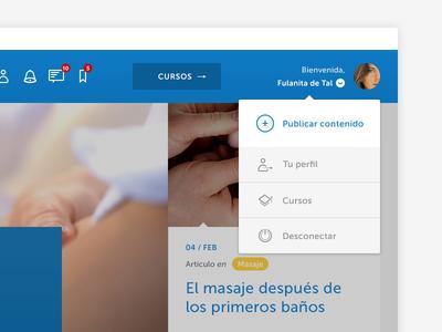 Johnson's baby Professionals Website Detail
