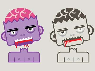 Zombie zombie infographic illlustration vectorial blood brain death