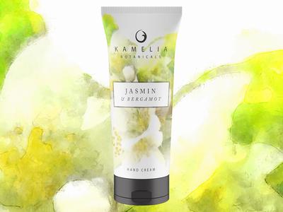 "Kamelia Botanicals ""Jasmin & Bergamot"" Hand Cream Concept"