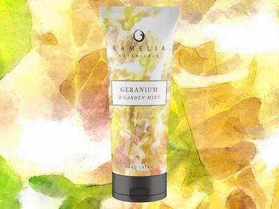 "Kamelia Botanicals ""Geranium & Garden Mint"" Hand Cream Concept"