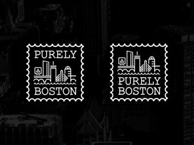 """Purely Boston"" Scrapped Logo Concepts"