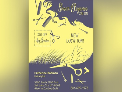 """Sheer Elegance Salon"" Promotional Piece"