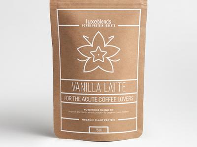 """Luxeblends """"Vanilla Latte"""" Protein Powder Concept #2"""