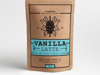 """Luxeblends """"Vanilla Latte"""" Protein Powder Concept #3"""
