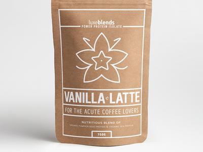"""Luxeblends """"Vanilla Latte"""" Protein Powder Concept #4"""