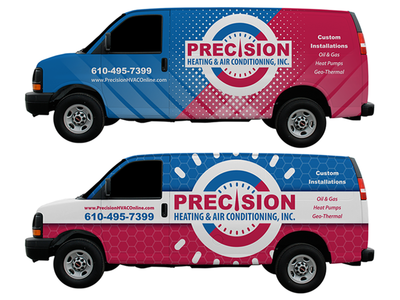Precision Heating & Air Conditioning Van Wrap Concepts
