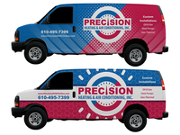 Precision Heating & Air Conditioning Van Wrap Concepts