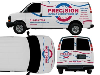 Precision Heating & Air Conditioning Van Wrap