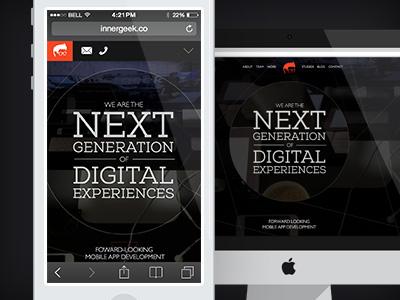 Innergeek.co ui interface web responsive adaptive ios7 iphone web design