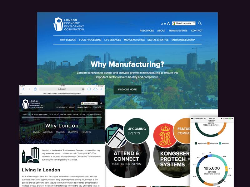 LEDC Website website web design ui homepage clean stats pie-chart responsive web-design