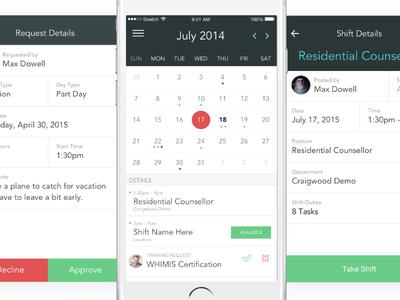 HR calendar + details