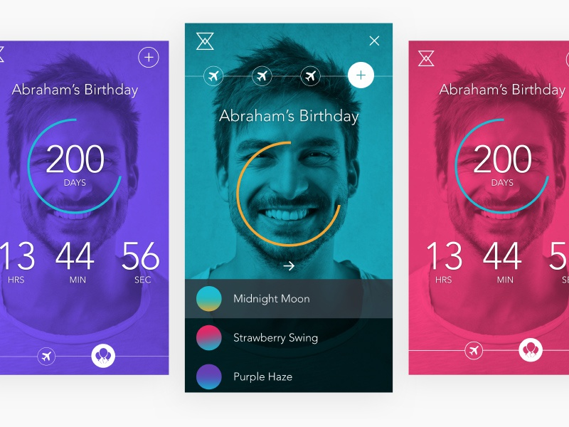 Countdown App filter countdown ux interface app mobile android ios ui