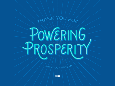 Powering Prosperity prosperity power procreate handlettering blue lettering nji intuit thank you page