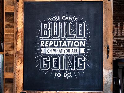 NJI Chalkboard Lettering typography design projection quote handlettering chalk lettering chalkboard chalk