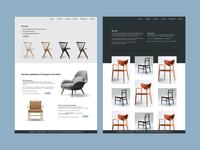 Furniture Website Concept