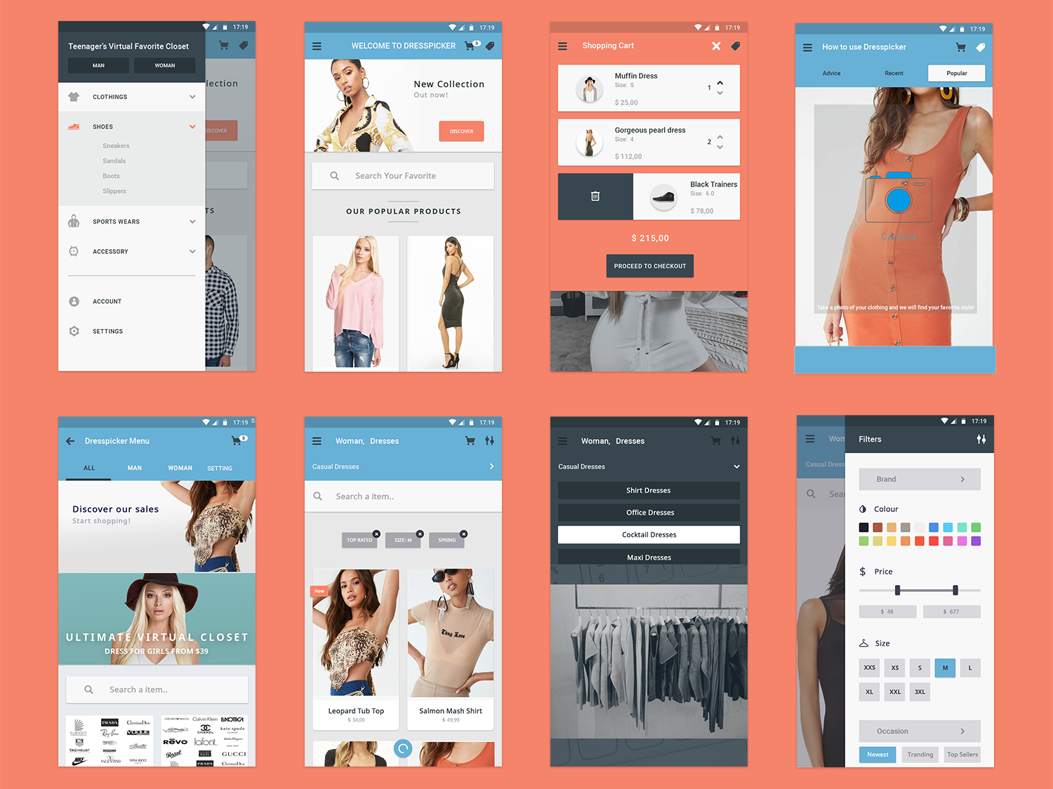 Dresspicker, your virtual closet by yeagyeong on Dribbble