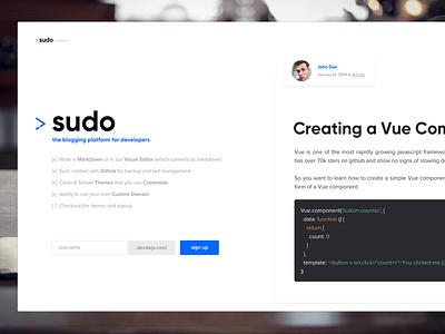 Sudo - The Blogging Platform For Developer blog for developers developer blog sudo