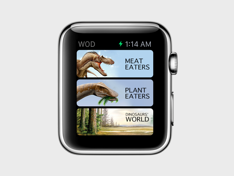 World Of Dinosaurs [  Watch App ] iphone trex watchkit ios app store dinosaurs  apple watch