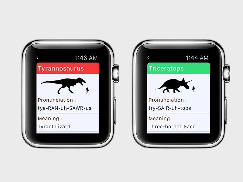 World Of Dinosaurs [  Watch App ] #2 iphone trex watchkit ios app store dinosaurs  apple watch