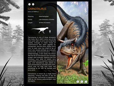 WOD Info layout trex dinosaur earth paleontology park jurassic dinosaurs dino