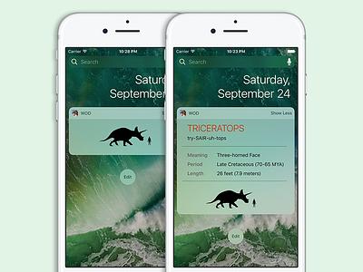 Dinosaurs Widget for iOS 10 today widget widget ios10 trex dinosaur earth paleontology park jurassic dinosaurs dino