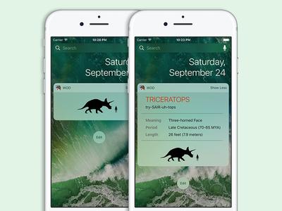 Dinosaurs Widget for iOS 10