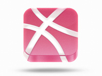 dribbble iOS icon