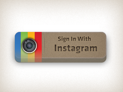Instagram Button instagram sign button photo chunky