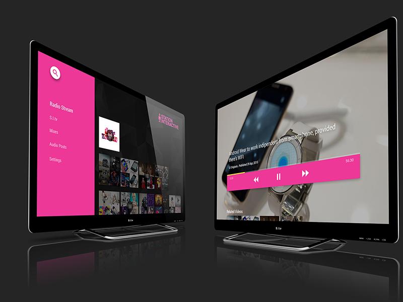 tv app psd set psd freebie user interface ux ui multimedia video audio material design app tv android