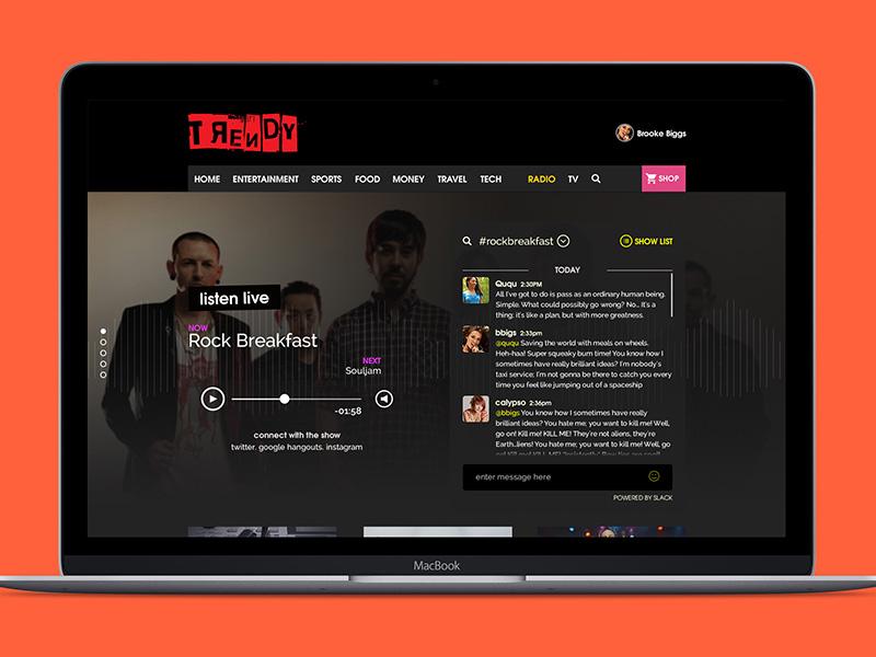 Radio Take 2 slack audio web design web interface user inteface ux ui radio