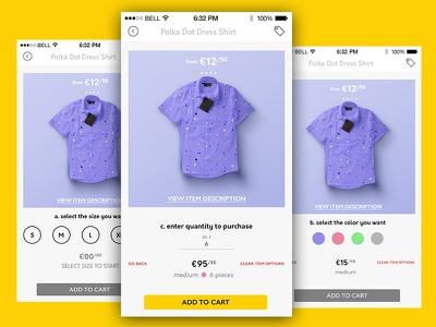 Single Product page iphone ui design ios app ecommerce ux ui shop