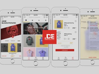 Herstellung ui kit ui app store shop ecommerce apple ios
