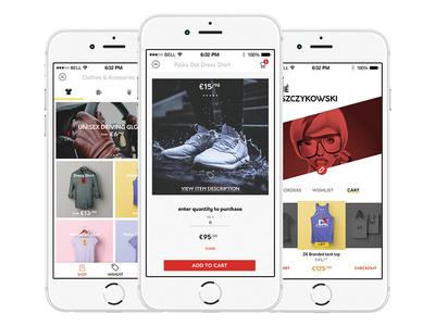 UI Kit design iphone app ios ui kit ui store shop ecommerce