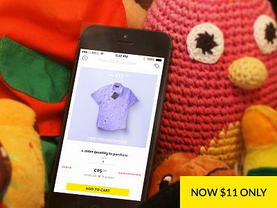 Eleven shop ios app shopping ecommerce psd ux ui