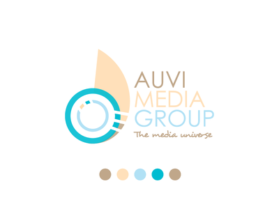 Auvi Blue branding identity logomark group media logo