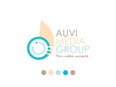 Auvi Blue branding identity logomark group media logo