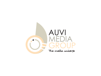 Auvi Dark branding identity logomark group media logo