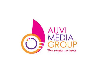 Auvi Pink branding identity logomark group media logo