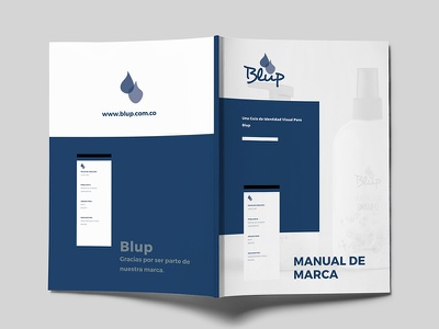 Blup guidelines book magazine logo wash cleaning identity brand branding